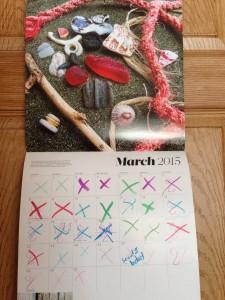 sea glass calendar
