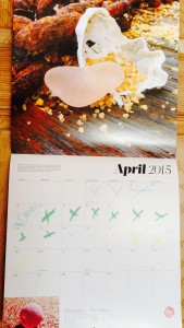 April, sea glass calendar