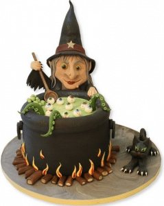 Pinterest witch cake.